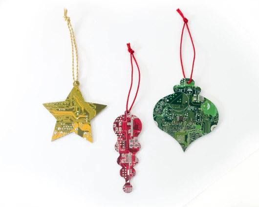 circuit board ornament gift