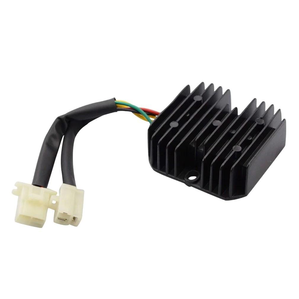 goofit 6 pin voltage regulator rectifier for honda elite ch150 ch150d scooter atv [ 1010 x 1010 Pixel ]