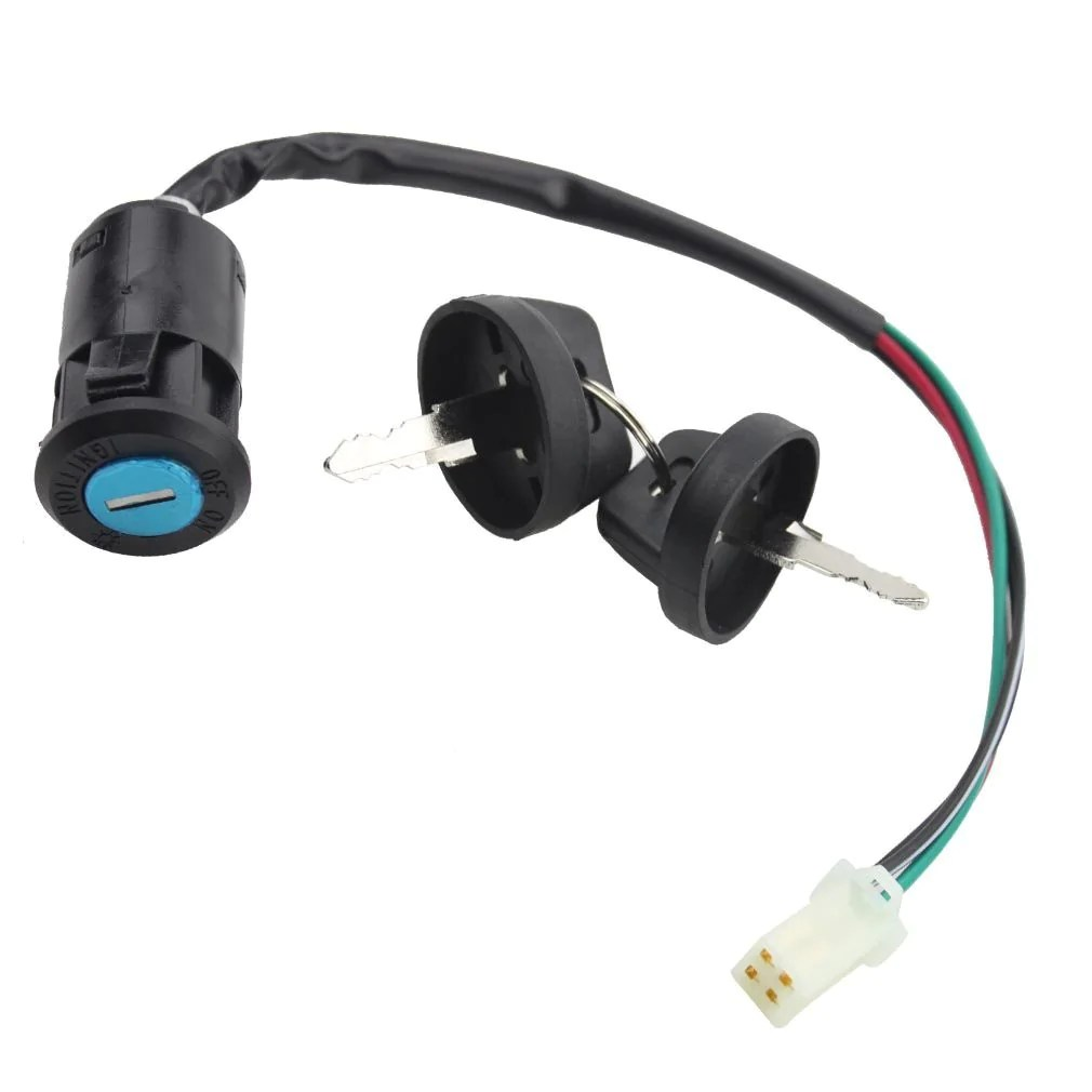 hight resolution of goofit 4 wires ignition switch key set with cap for 50cc 70cc 90cc 110cc 125cc 150cc