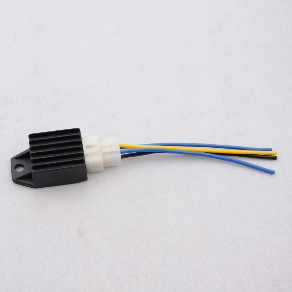 small resolution of goofit 4 pin 12v ac voltage regulator rectifier with 4 wires for motorcycle atv moped scooter go kart