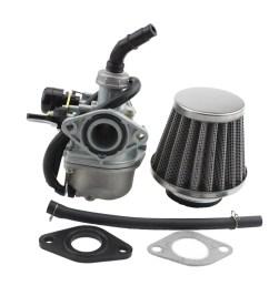 fuel system goofit pz19 carburetor with air filter for kazuma taotao baja polaris roketa sunl honda  [ 1010 x 1010 Pixel ]