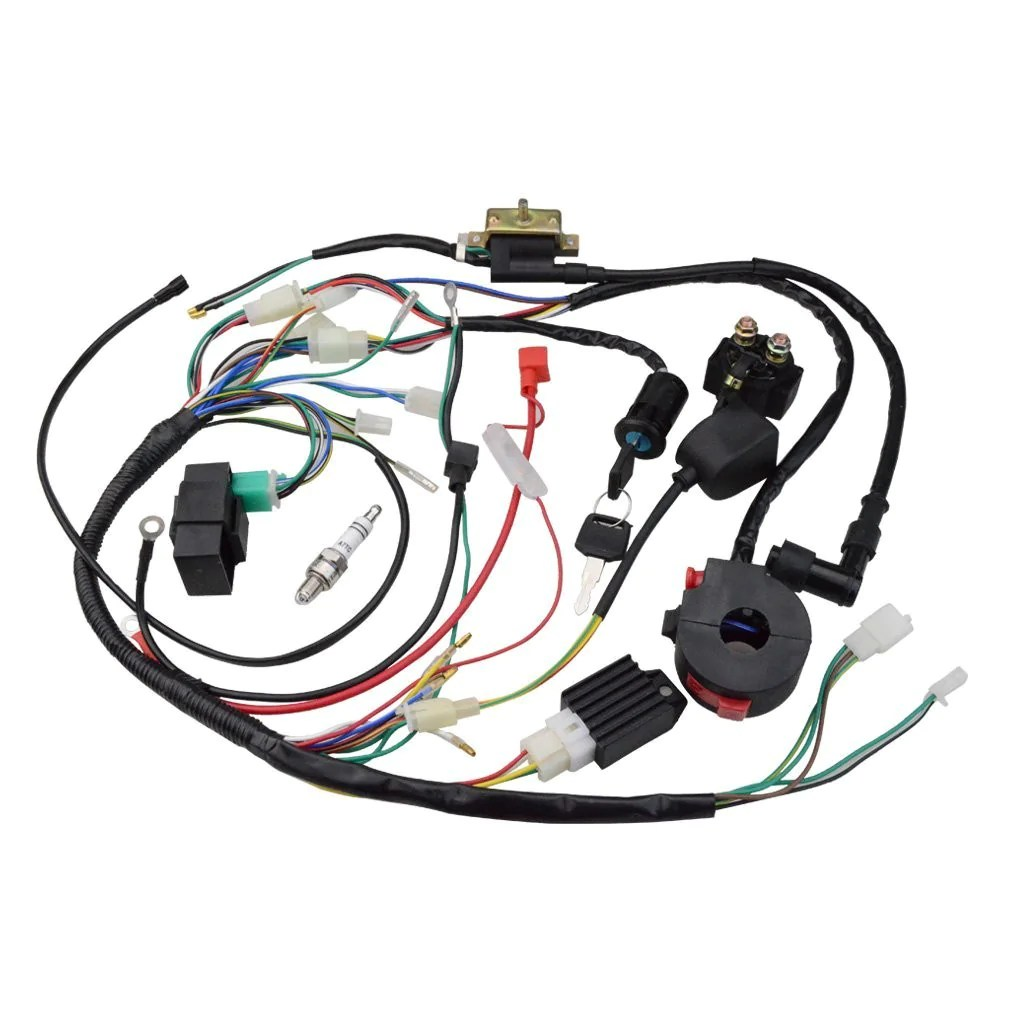 small resolution of goofit ignition rebuild kit wiring harness for 110cc 125cc atv quad bike go kart buggy