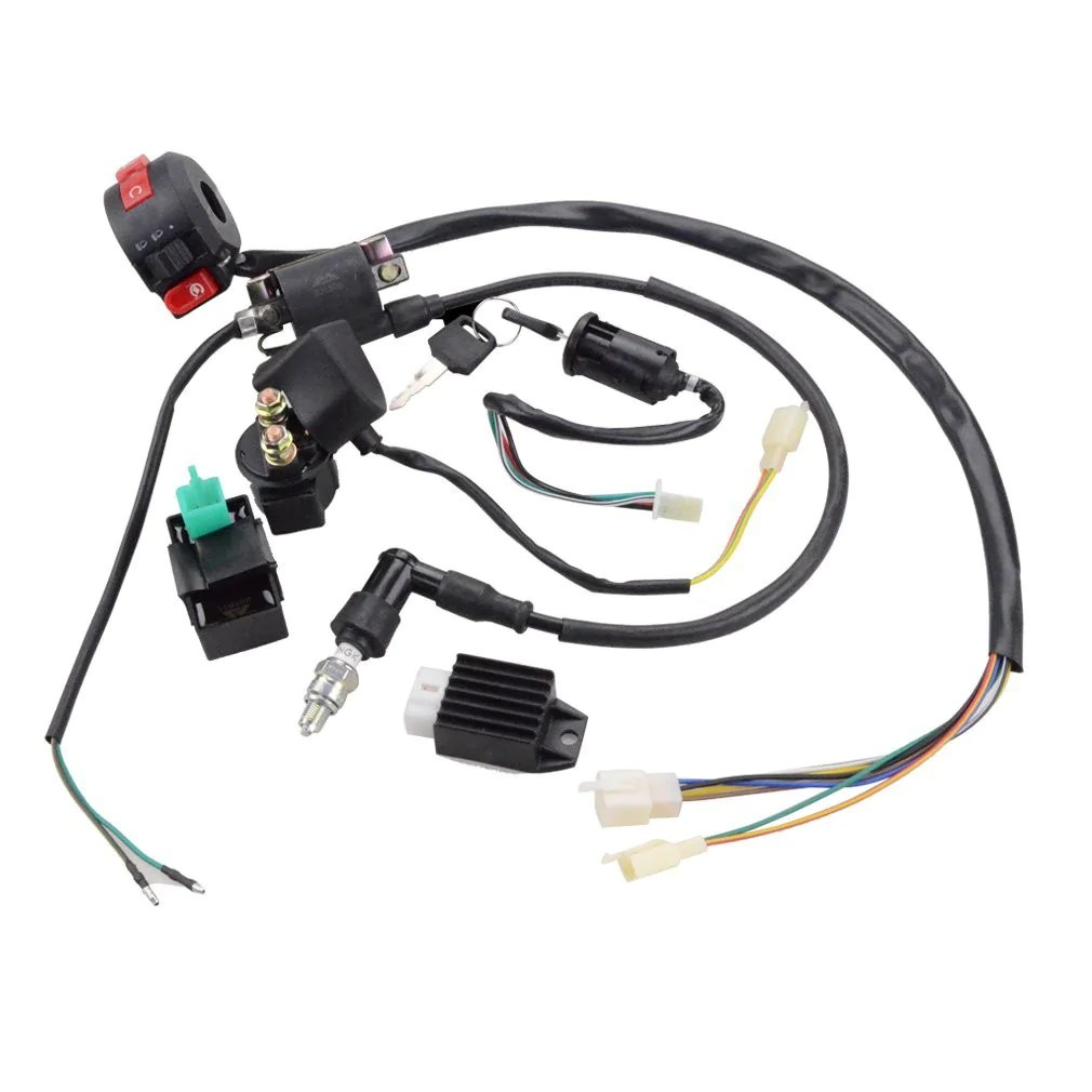 goofit ignition rebuild kit wiring harness for 110cc 125cc atv quad bike go kart buggy [ 1010 x 1010 Pixel ]