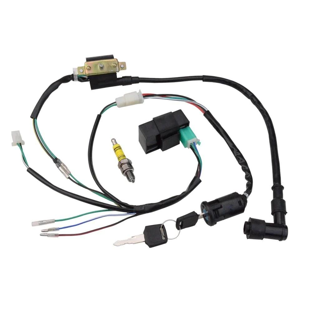 medium resolution of wire harness motorcycle go kart atv scooter dirt bike goofit atv brakes wiring harness for atv