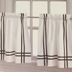 Chf Sawyer 58 X 24 Window Tier Kitchen Curtains White Black Ann S Home Decor And More