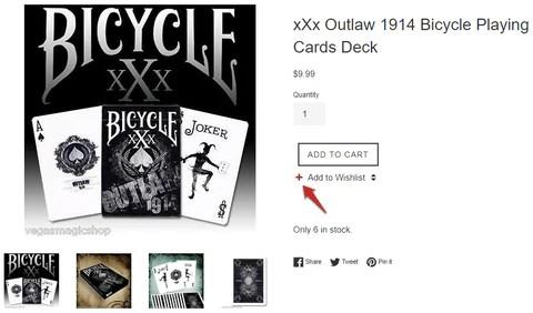 XXX Bicycle Playing card Deck Wishlist