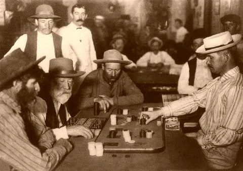 (A game of Faro in 1895)