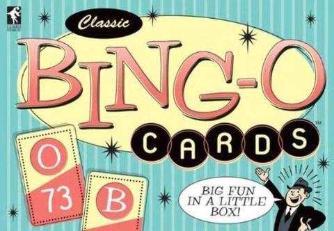 """(在Bingo卡中,如果您叫出五張卡,您會大聲喊"""" Bingo!"""")"""