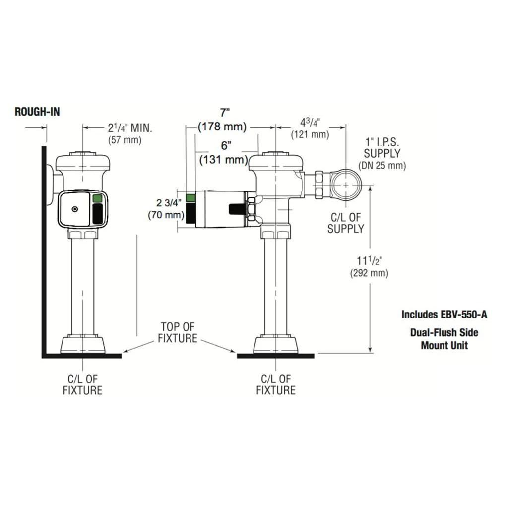 flush valve wiring diagram for bathroom [ 1024 x 1024 Pixel ]
