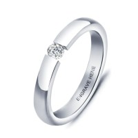 Personalised Ladies Silver Titanium Promise Ring with ...