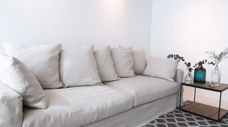 belgian linen sofa best companies 2018 4 seater in natural