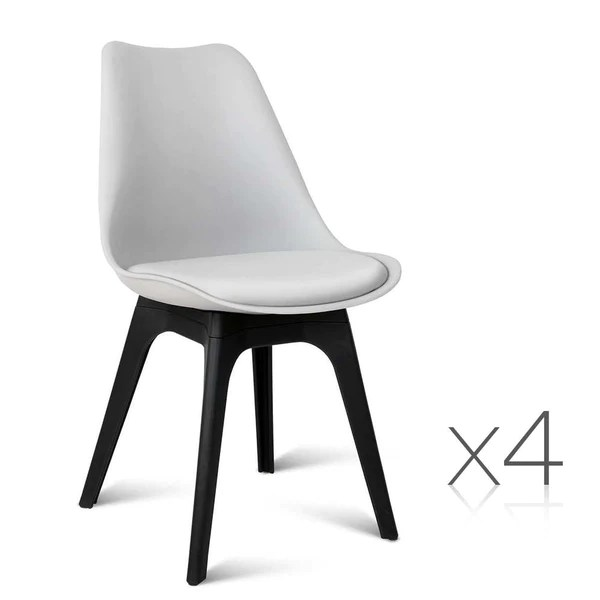 eames leather chair dining sure fit covers bed bath and beyond set of 4 replica dsw pu white jvees