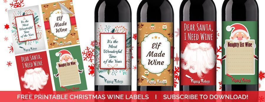 free printable christmas wine