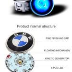 Hyundai Led Wheel Cap Raymax Luminous Gear