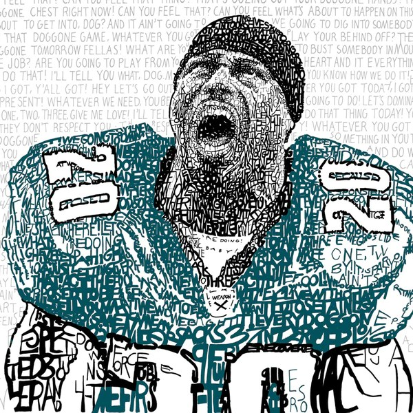 Philadelphia Eagles Brian Dawkins Word Art Print