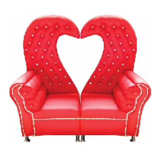 wedding sofa convert a couch sleeper couches chairs heart shaped red for sale in