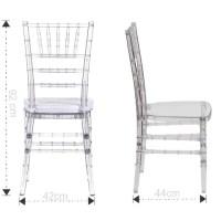 Tiffany Chair Clear  Ahmeds Textiles