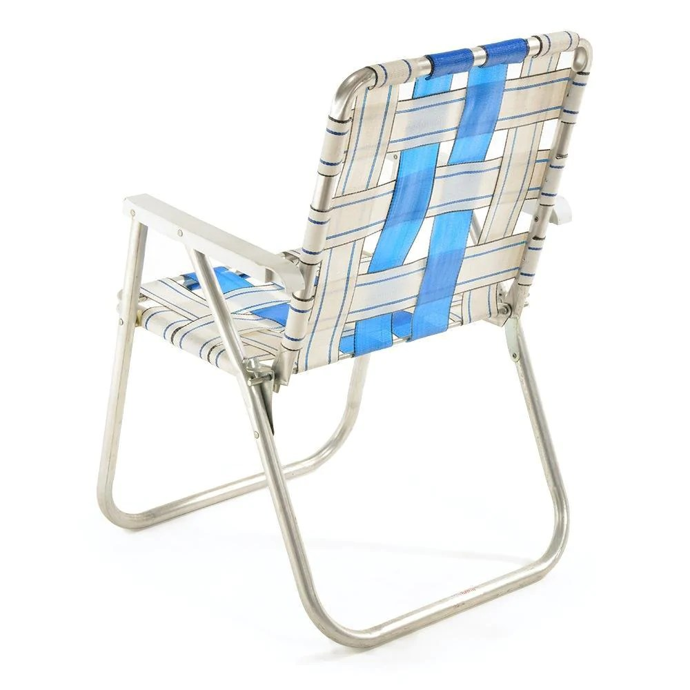 Foldable Lawn Chairs Blue White Folding Lawn Chair