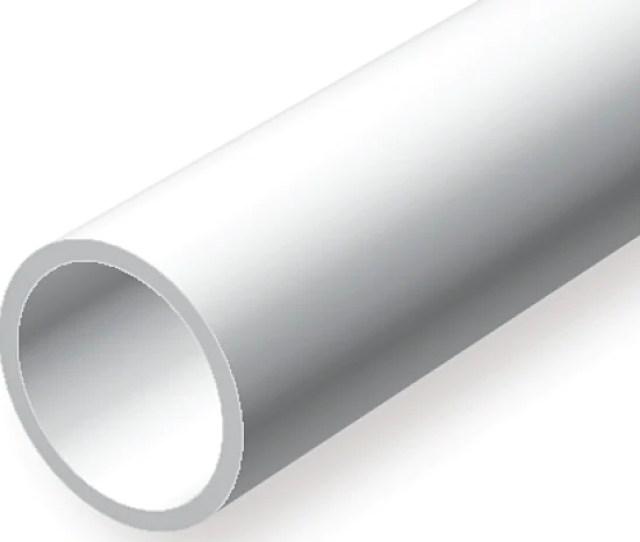 Opaque White Polystryene Rod And Tube Assortment