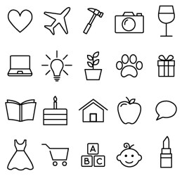 story highlight instagram icons highlights vectors