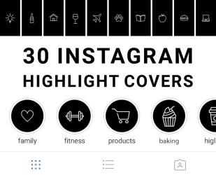 Instagram Highlight Cover Icons Black And White memegram