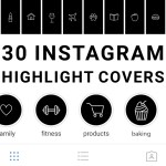 30 Black And White Instagram Highlight Icons Mimosa Designs