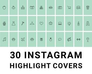 story highlight instagram icons grey highlights minimalist