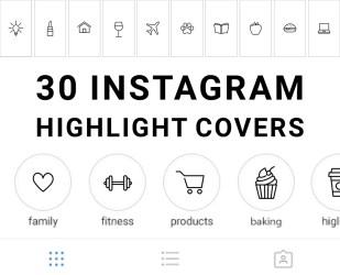 story highlight instagram icons grey highlights minimalist shopify