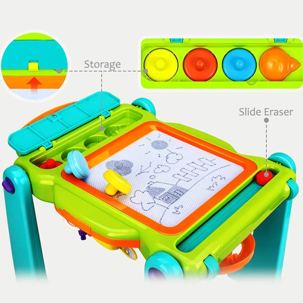 Baby Walker And Activity Center Kids Magnetic Drawing