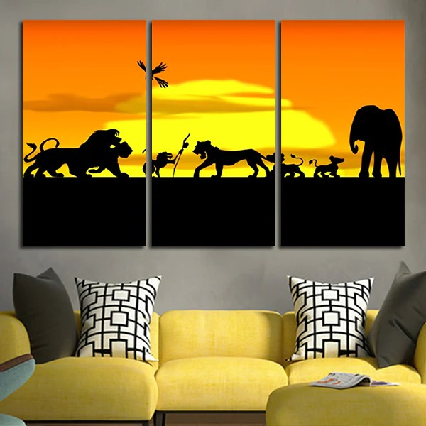 the lion king panel wall art canvas tagged the lion king