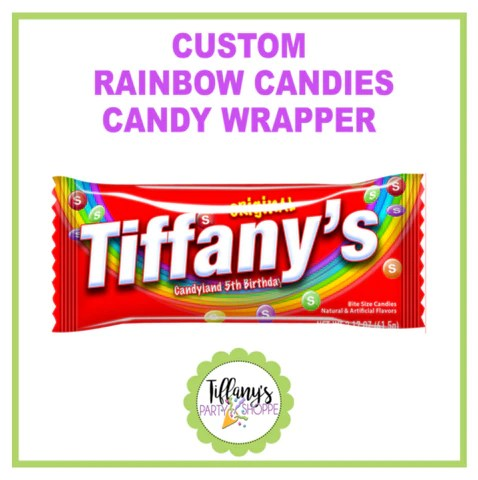 Custom Skittles Candy Wrapper (UNFILLED OR FILLED ...