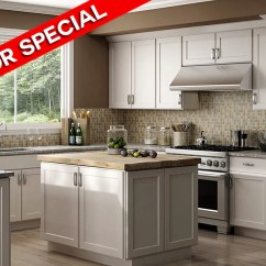 Kitchen Cabinets Com Glass Backsplash Luxor White Shaker Panel Rta Wood