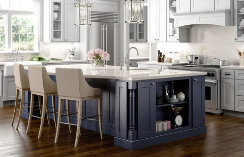 different color kitchen cabinets home depot lights design a with island rta wood it is very common today for people to their our designers recommend whenever possible try and use
