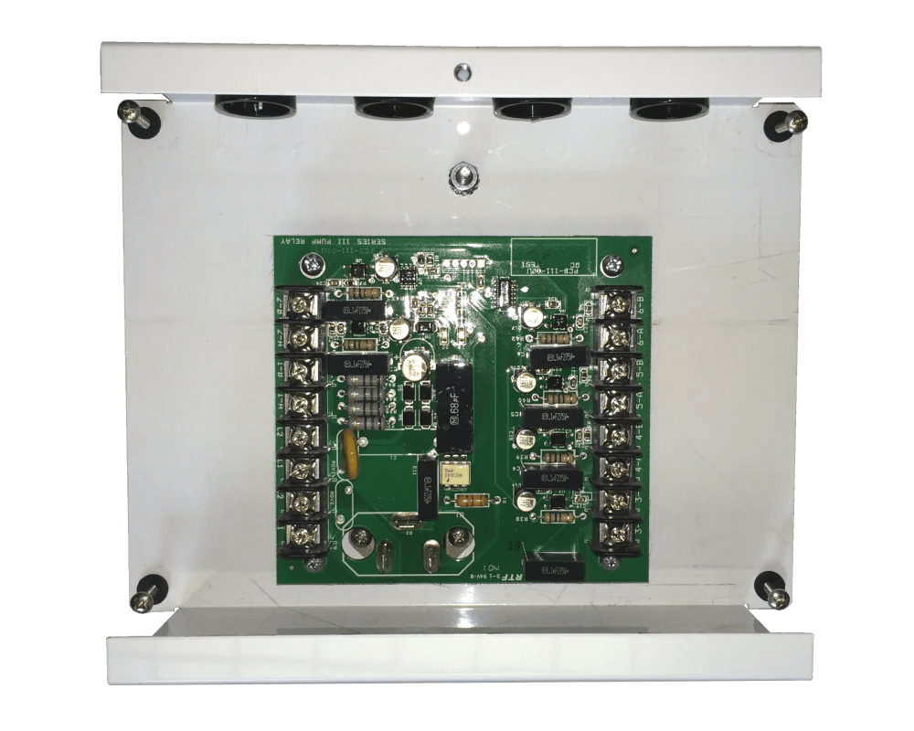 hight resolution of pump relay in metal box 6 station
