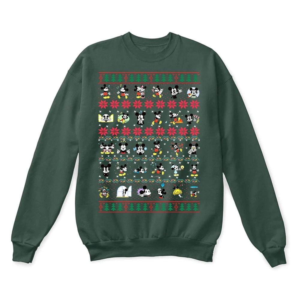 Mickey Cute Emoji Disney Stickers Ugly Christmas Sweater