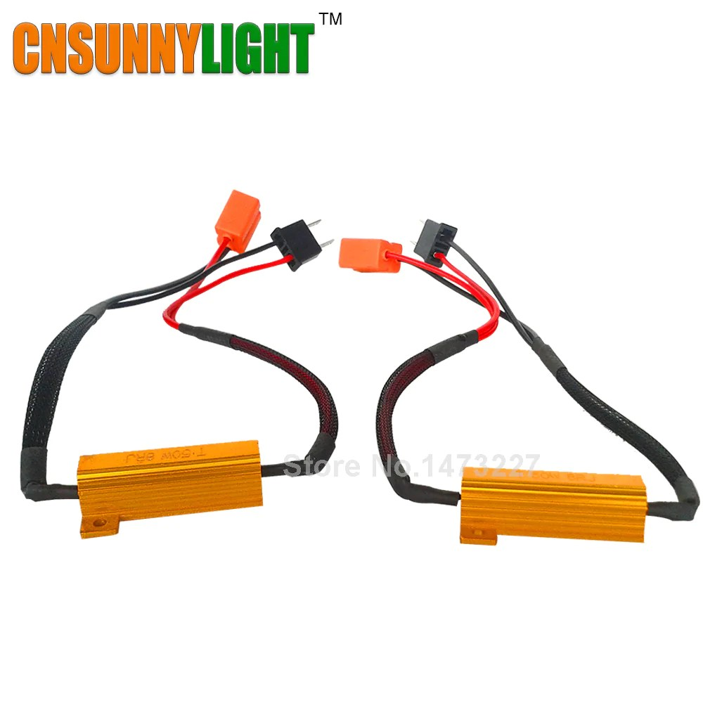 small resolution of  led bulb resistor canbus harness lanoova store