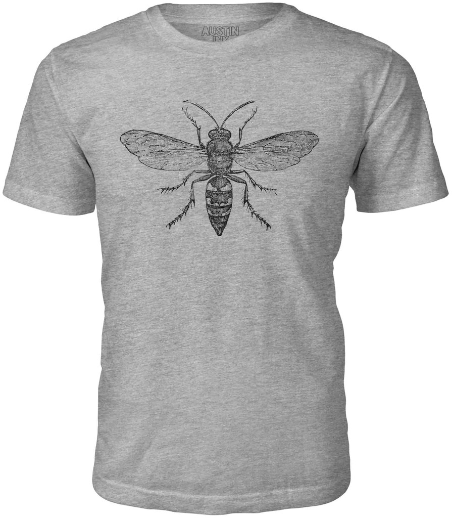 austin ink hornet diagram short sleeve cotton mens t shirt  [ 895 x 1024 Pixel ]