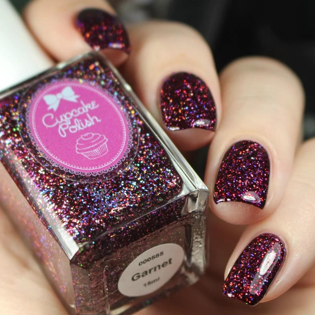 garnet - holographic glitter indie