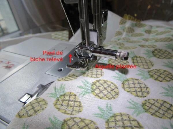 DIY Couture trousse zippée - pied de biche