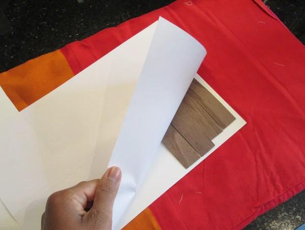 Papier suur bandes de placage