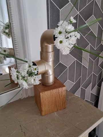 DIY Vase industriel - Bois et tubes de PVC