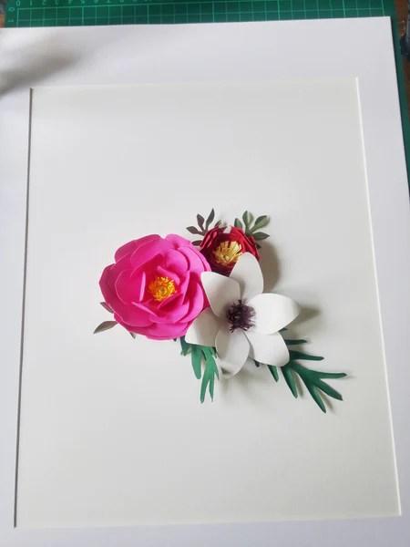 DIY Compostion de fleurs en papier