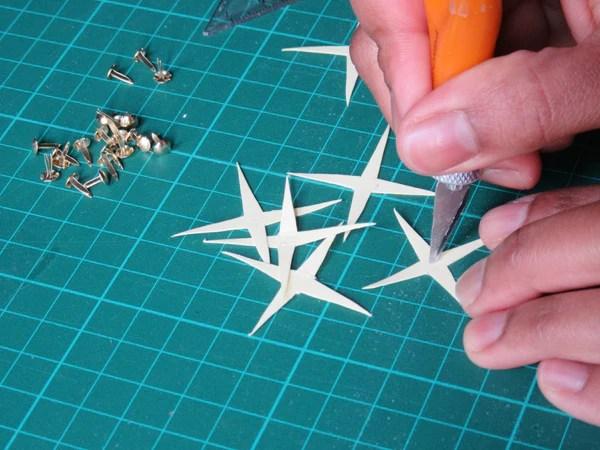 Percage des épines en papier
