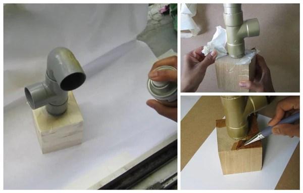 peinture et vernissage du vase