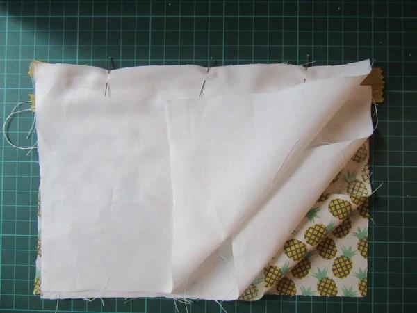 Tuto couture poche zippée couture du deuxième côté