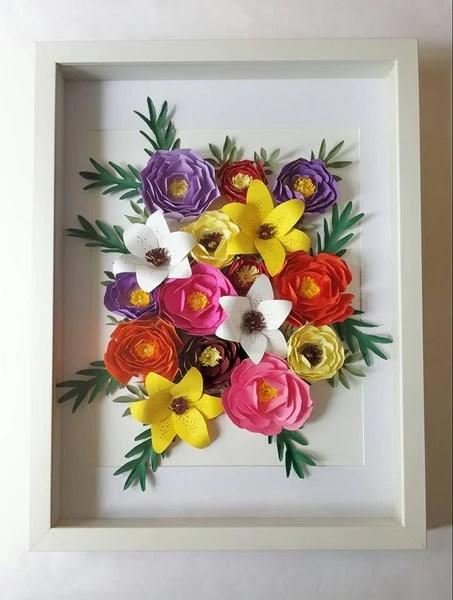 DIY Composition florale dans cadre photo