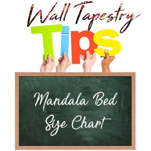 bed size charts inches and cm also  rh mandala the wall tapestry cave