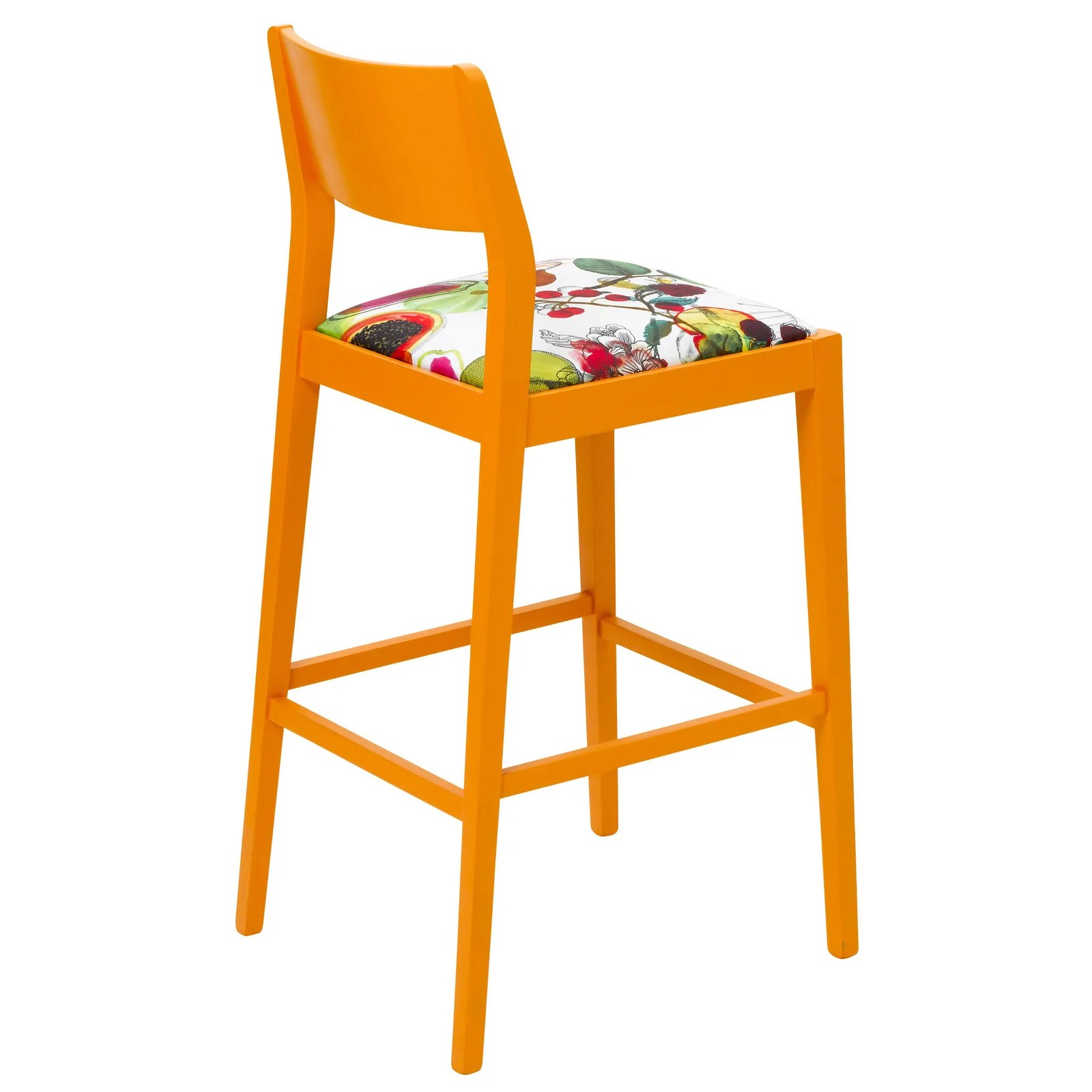 Eggshell Chair James Shaker Style Bar Stool Upholstered In Christian Lacroix Manaos Perroquet