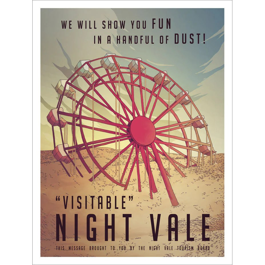 hight resolution of night vale tourism board poster