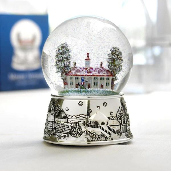 Mount Vernon Musical Snow Globe The Shops At Mount Vernon